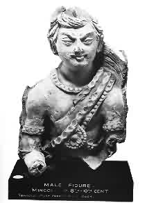 Statue of a Khazar Warrior; he looks like he's going to eat you