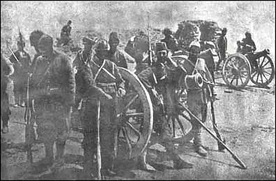 innocent Armenians reported to be softening up Turkish positions, paving the way for their Russian allies' conquest of Van