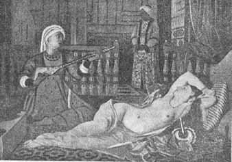 Odalisque in harem: From a painting in a French museum
