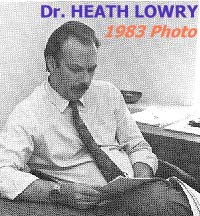 Professor Heath Lowry, from 1983