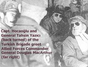General Yazici meets General Douglas MacArthur