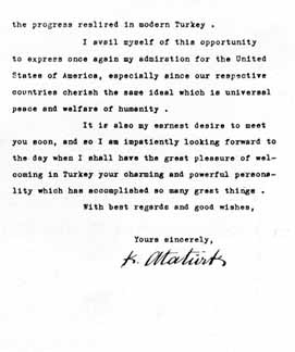 Second Page Of Ataturku0027s Letter To FDR