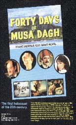 "Poster for the obscure Armenian movie, ""The Forty Days of Musa Dagh,"" The First Holocaust of the Twentieth Century!"