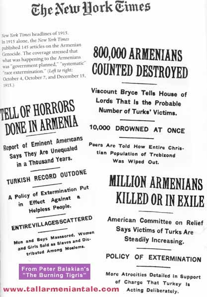 New York Times Armenian propaganda reports