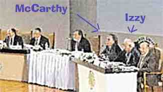 Justin McCarthy seated next to Israel Charny at the Istanbul University conference