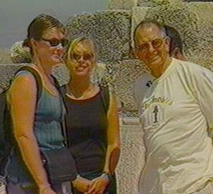 Weems converses with two Australian tourists in Turkey