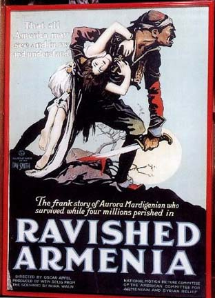"Poster for ""Ravished Armenia"": Four Millions Perished"